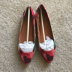 Madewell floral flats, size 6